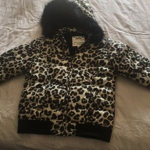 Justice animal print winter coat